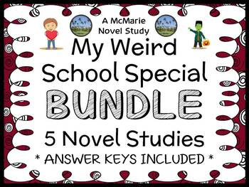 My Weird School Special BUNDLE (Dan Gutman) 5 Novel Studies / Comprehension