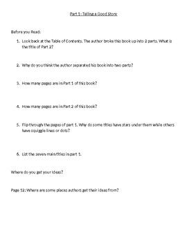 My Weird Writing Tips Guided Reading Comprehension Question