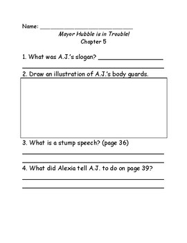 My Weirder School #6: Mayor Hubble is in Trouble comprehension questions