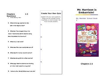 My Weirder School Book #2 Mr. Harrison is Embarrisin by Dan Gutman Trifold