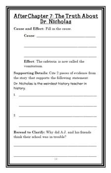 My Weirder School: Dr. Nicholas Is Ridiculous! (Dan Gutman) Novel Study