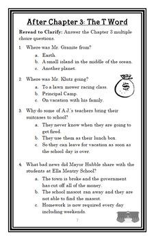 My Weirder School: Mr. Burke is Beserk! (Dan Gutman) Novel Study / Comprehension