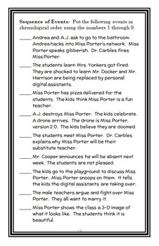My Weirder-est School #2 : Miss Porter Is Out of Order! (Dan Gutman) Novel Study