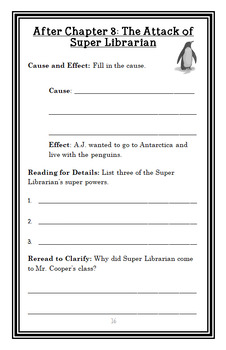 My Weirdest School #1: Mr. Cooper Is Super! (Gutman) Novel Study / Comprehension
