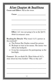 My Weirdest School #7 : Ms. Joni Is a Phony! (Dan Gutman) Novel Study (22 pages)