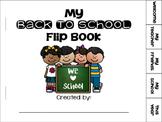 My Welcome Back To School Flip Book