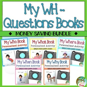 My Wh-Questions Books: A Personalized Bundle