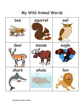 My Wild Animal Words