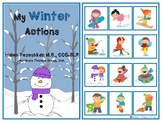 My Winter Actions Interactive Vocabulary Book
