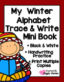 My Winter Alphabet Trace and Write Mini Book