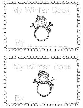 My Winter Book Printable Tracing Book