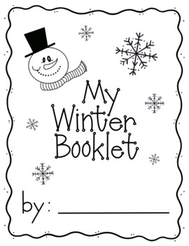 My Winter Booklet- 6 pages of Winter fun activities + Cover