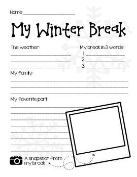 My Winter Break