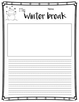 My Winter Break (Personal Narrative)