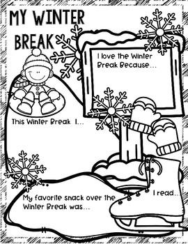 My Winter Break Poster: An Activity to Highlight Students' Winter Break