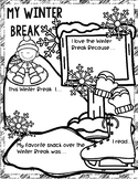 My Winter Break Poster: An Activity to Highlight Students'