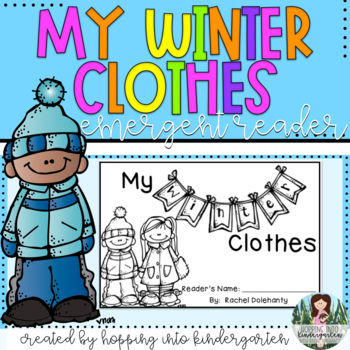 my winter clothes emergent reader book and activities tpt. Black Bedroom Furniture Sets. Home Design Ideas