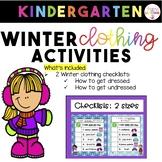 Winter Checklist For Kindergarten (FREEBIE!)