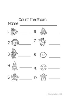 My Winter Counting Book & Activity