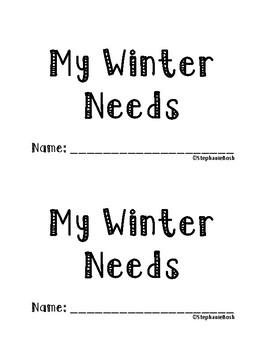 My Winter Needs Emergent Reader