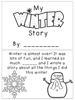 My Winter Story Writing Activity- NO PREP