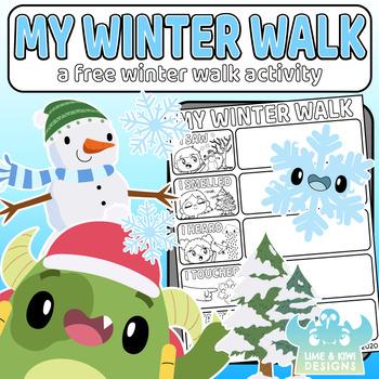 My Winter Walk Freebie Activity Sheet  - Digital Download