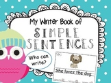 My Winter Writing Book of Simple Sentences