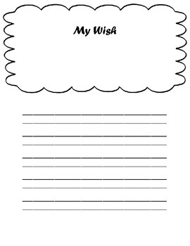 My Wish Writing Template