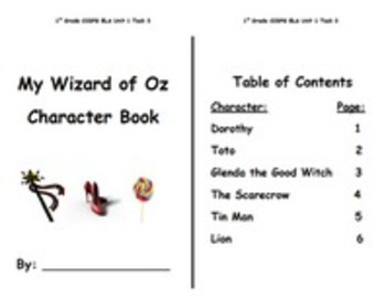 My Wizard of Oz Character Book