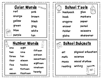 My Word Book {Student Dictionary}