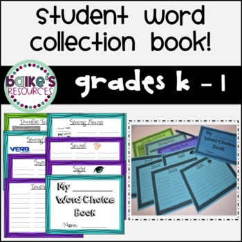My Word Choice Book (K-1)
