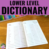 Personal Dictionary with Dolch Word Lists Plus Extras