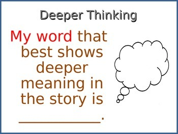 My Word Deeper Thinking Printable