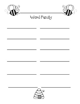 My Word Families Dictionary