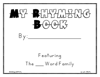 My Word Family-Rhyming Book