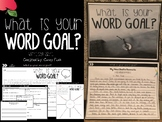 My Word Goal Writing Unit My Intent New Years Goals