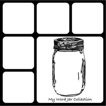 My Word Jar Collection Template