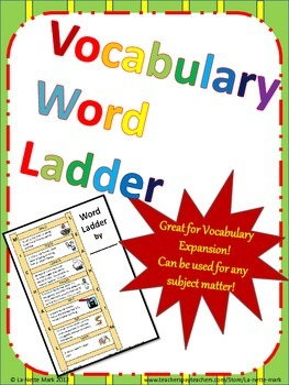 My Word Ladder Vocabulary Expansion Activity