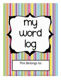 My Word Log