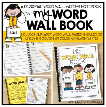 My Word Wall Book {An Interactive Word Wall Writing Notebook}