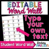 Editable Student Word Wall
