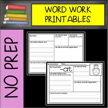NO PREP Daily Use Word Work