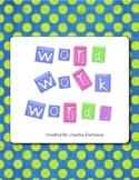 My Word Work Words