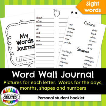 My Words Journal {Personal Word Wall}