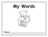 My Words: Sight Word Journal and Running Record