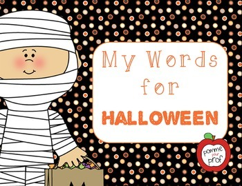My Words for Halloween - Vocabulary Cards