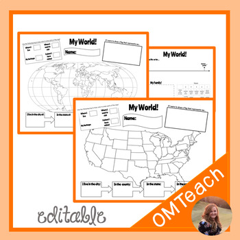 My World - Beginning of the Year and Social Studies Activity