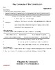 My World: Building Our Country, Chapter 6 Worksheets