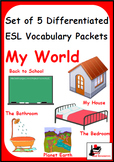 My World - Bundle of 5 Differentiated Vocabulary Packets f