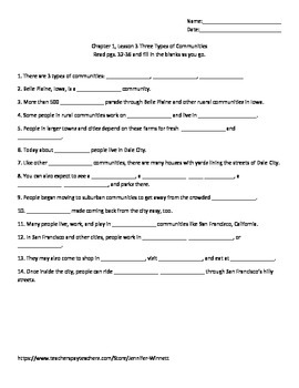 My World Social Studies Chapter 1 Outlines